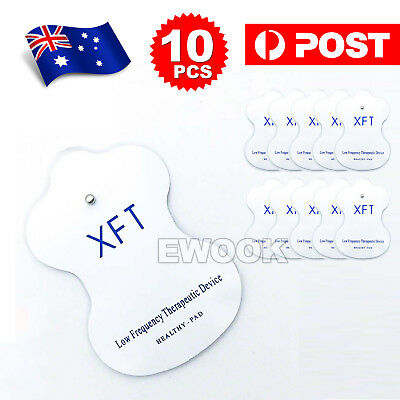 10X Electrode Pads for TENS EMS Machine Massager XFT CIRCULATION BOOSTER Unit