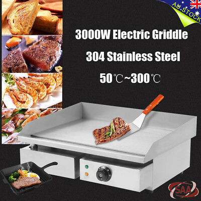 3000W Electric Countertop Griddle Commercial  Hot Plate Restaurant Grills BBQs