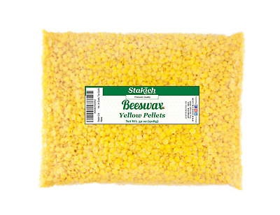 2 lb Yellow Beeswax Pellets Bee Wax 100% Natural Beads Granules Pearls on SALE