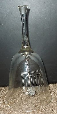"Avon 100 Years Centennial  Crystal Bell 1886 - 1986 Vintage   5 3/4"" TALL"