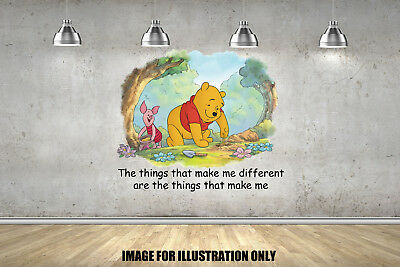 Winnie The Pooh Different Quote Inspirational Childrens Wall Stickers Decals