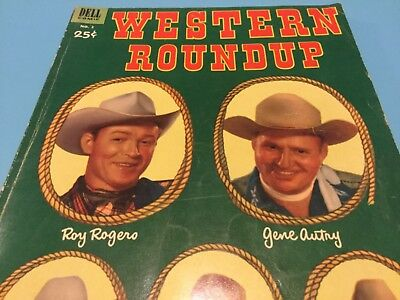 Dell Publishing 1953 Western Roundup 2 Roy Rogers Gene Autry Dale Evans