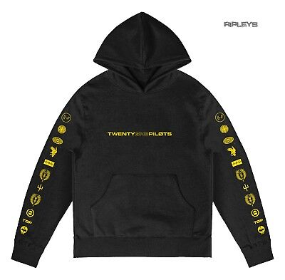 Official Twenty one 21 Pilots Black Hoody Hoodie LOGO HEAVY Trench All Sizes