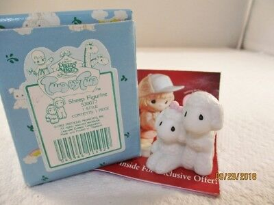 Vintage 1992 Precious Moments Figurine Two by Two Noah's Ark Sheep Lambs 530077