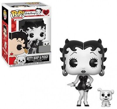Funko POP! Animation Betty Boop & Pudgy Vinyl Figure [Black & White]