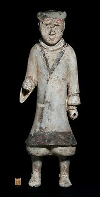Ancient Chinese Large Terracotta Guard - Han Dynasty