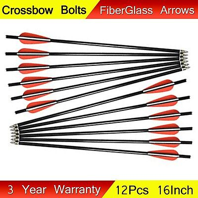12pcs 16inch Crossbow Bolts Arrows Archery Hunting Outdoor Shooting High Quality