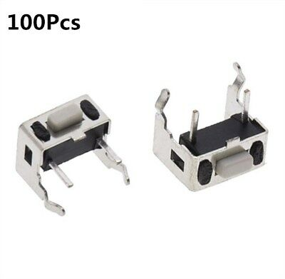 100Pcs Tact Switch Push Button 3mm*3mm*5mm Through Hole SPST-NO Right Angle