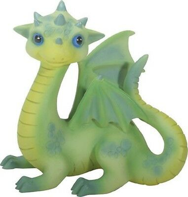 Green Baby Dragon Fiona Fantasy Figurine Statuette Mythical Fairy Tale Décor New