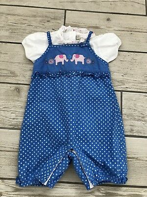 jojo maman bebe 12-18 months girl outfit dungarees