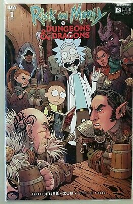Rick and Morty vs Dungeons & Dragons #1 1:25 RI B Variant Oni Comic  2018 NM