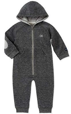 Calvin Klein Infant Boys Peacoat Hooded Coverall Size 3/6M 6/9M 12M 18M 24M