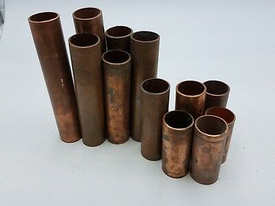 """2lb+ 12Pc Copper 1"""" D Pipe Tube Wrot Metal Material Craft Art Recovery Plumbing"""