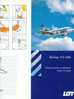 Cpa Pk Ak Aviation Compagnie Lot Polish Airlines  Safety On Board B-737-500