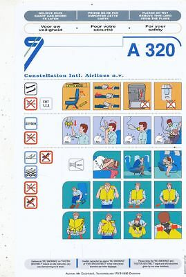 Cpa Pk Ak Aviation Compagnie Constellation Airlines  Safety On Board Avion A-320