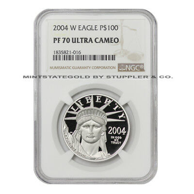 2004-W $100 Platinum Eagle NGC PF70UCAM Ultra Cameo American Proof coin 1oz