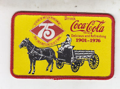 VINTAGE 75th ANNIVERSARY PATCH COCA-COLA BOTTLING CO. OF E-TOWN 1901 -1976 MINT