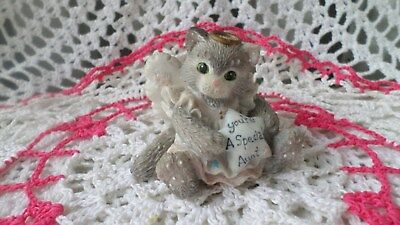 """Enesco Calico Kittens  """"You're a Special Aunt"""" Angel Cat Figurine 1994 Hillman"""
