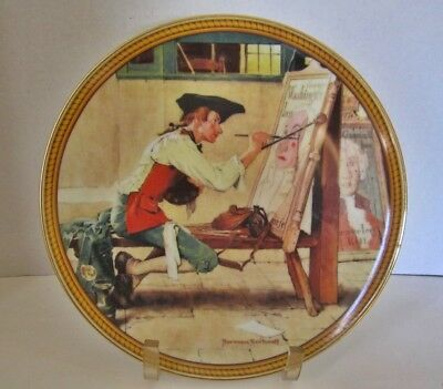 """Sign Of The Times Rare Norman Rockwell Limited Edition 9.5"""" Plate From '88"""