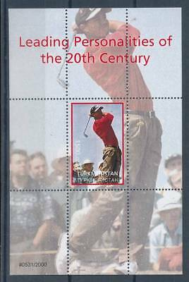 181719) Turkmenistan ** Blockausgabe Golf Tiger Woods
