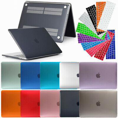 Rubberized Case Shell + Keyboard Cover For Macbook Air Pro Retina 11 12 13 15
