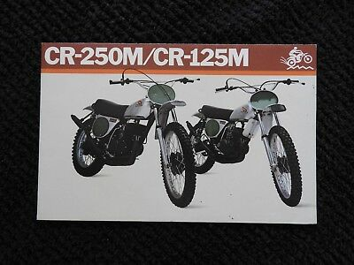 "1973 Honda 125 250 Cr-125M Cr-250M ""elsinore"" Motorcycle Sales Brochure Poster"