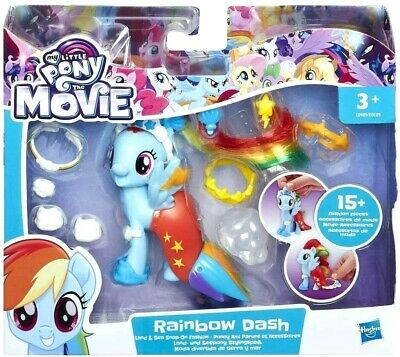 My Little Pony The Movie Rainbow Dash Land, Sea Fashion Toys For Girls 3+ Years