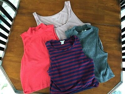 Women's Crop Tops American Eagle, H & M Dividend, Forever 21 Size M-L -Lot of 4