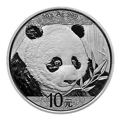 30 Gram (Almost 1 Ounce) 2018 .999 Silver China Panda ~ Gorgeous ~ Free Shipping