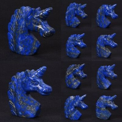Unicorn crystal sculpture Natural Lapis Carving Hippocampus Sculpture Collection