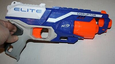 Blue Nerf N-Strike Elite Disruptor Dart Gun Blaster Toy Hasbro 2016 Works