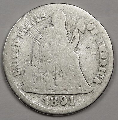 1891-s Liberty Seated Dime.  Circulated.  119520