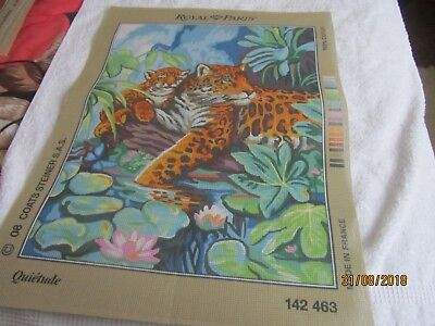 large printed canvas     tigar tapestry