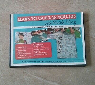 LEARN TO QUILT-AS-YOU-GO with MICHELLE MARVIG DVD ~ NEW