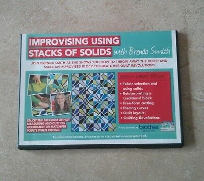 IMPROVISING USING STACKS OF SOLIDS with BRENDA SMITH DVD ~ NEW