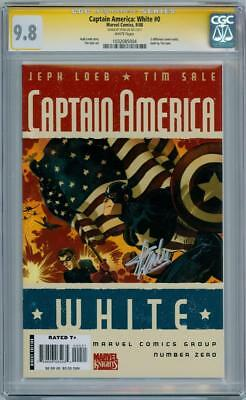 Captain America White #0 Cgc 9.8 Signature Series Signed Stan Lee Marvel Movie