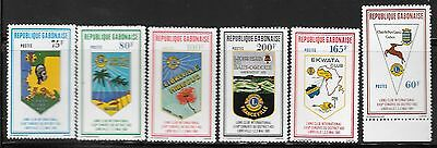 GABON Sc 459-64 NH ISSUE OF 1981 - LION'S INT'L