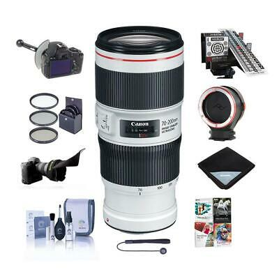 Canon EF 70-200mm f/4L IS II USM Lens, USA - With Pro Accessory Bundle
