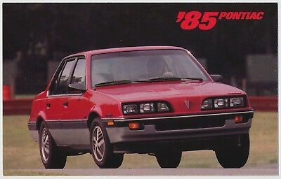 1985 Pontiac Sunbird S/E Turbo Dealer Postcard, Scholfield Bros. Wichita, Kansas
