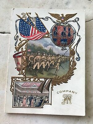 Antique/vintage 1906 Company M 3Rd Infantry Military Ball Invitation Linker Hall