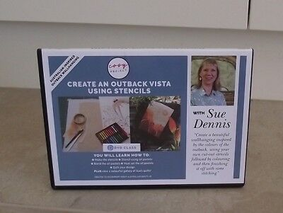 CREATE AN OUTBACK VISTA USING STENCILS with SUE DENNIS DVD ~ NEW