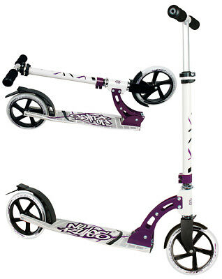 Aluminium Racing Roller Scooter No Rules schwarz weiss purple 205