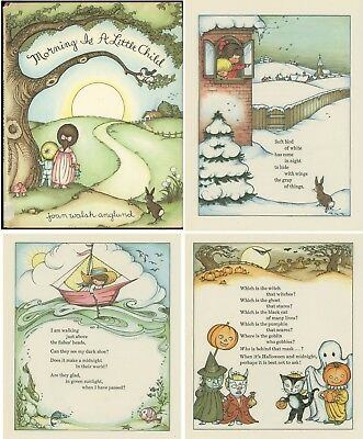 Joan Walsh Anglund MORNING IS A LITTLE CHILD Illustrated Poems Halloween More