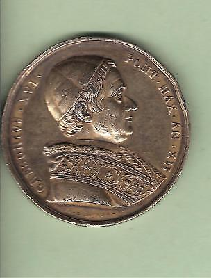 MEDAILLE PAPALE ARGENT GREGOIRE XVI an XII ANCONE / PAPA SILVER PAPAL MEDAL