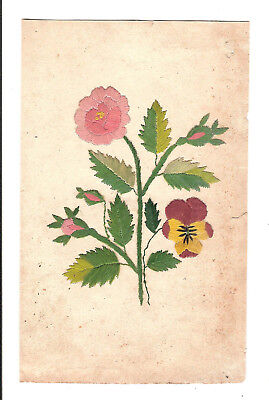 PEINTURE A L'AIGUILLE BRODERIE IMAGE BRODEE FLEURS / NEEDLE PAINTING FLOWERS 2e