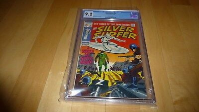 Silver Surfer 10 CGC 9.2 (1969, Marvel Comics) OW to White Pages Stan Lee