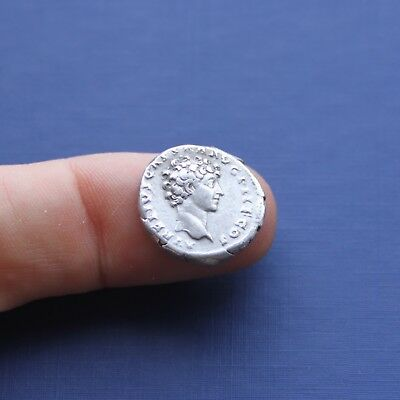 Imperial Roman Silver Coin Denarius Double Headed c 139 AD