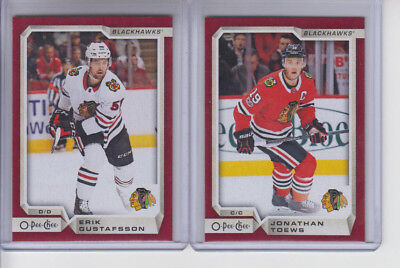 18/19 OPC Chicago Blackhawks Erik Gustafsson Red Wrapper Redemption card #89