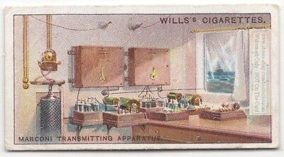 Marconi's Radio Transmitting Apparatus From About 1910 1915  Ad Trade Card