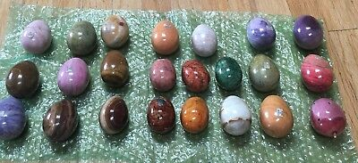 Alabaster Eggs, Made In ltaly And Mexico.23 Assorted Colors